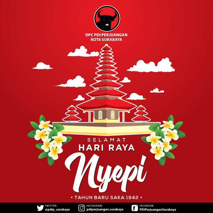Di Tengah Wabah Corona, PDIP Surabaya: Selamat Hari Raya